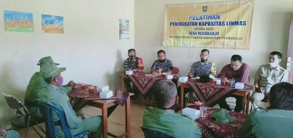 Pelatihan Peningkatan Kapasitas Linmas TA. 2021 Desa Sukoharjo
