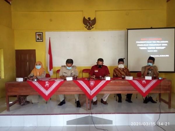 Camat Kutoarjo hadiri Pembentukan Timlak Desa Tepus Wetan
