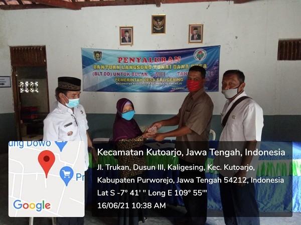 Penyaluran BLT DD Bulan Kelima Desa Kaligesing