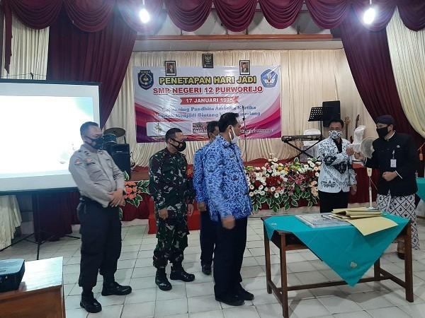 Camat Kutoarjo hadiri Pencanangan Hari Jadi SMP N 12 Purworejo