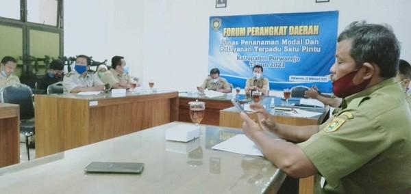 Camat Kutoarjo hadiri Forum Perangkat Daerah DINPMPTSP