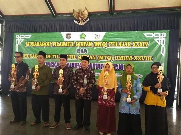 Camat Kutoarjo hadiri Penutupan MTQ Pelajar tingkat Kabupaten Purworejo