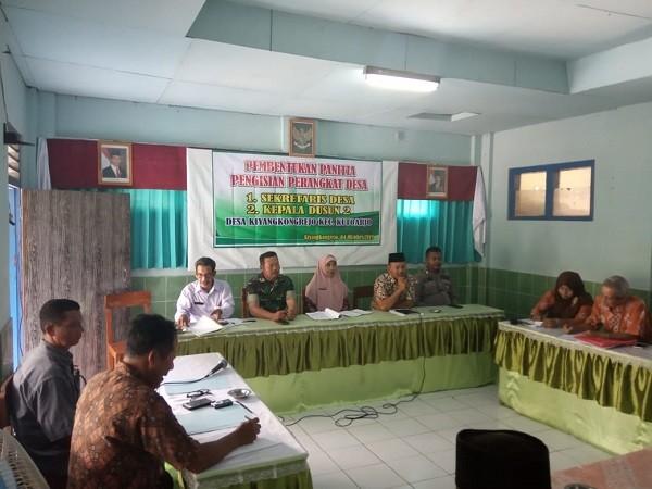 Pembentukan Panitia Pengisian Perangkat Desa Kiyangkongrejo